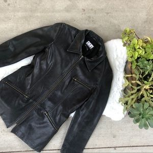 Vintage DKNY Genuine Leather Jacket